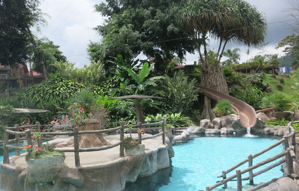 One of the beautiful hotsprings resorts in Arenal, Costa Rica.