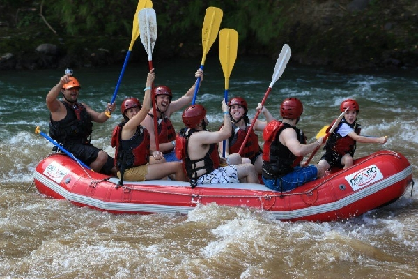 Turn your day of travel into an action packed adventure! Class 2-3 rafting
