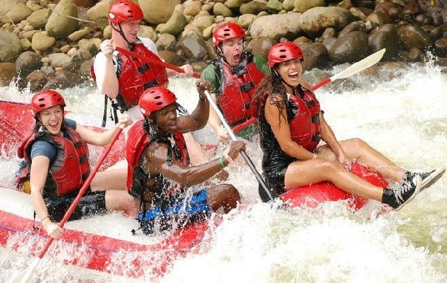 "You'll experience over 30 exciting rapids with names like ""The Terminator"" and ""Dos Locos"""
