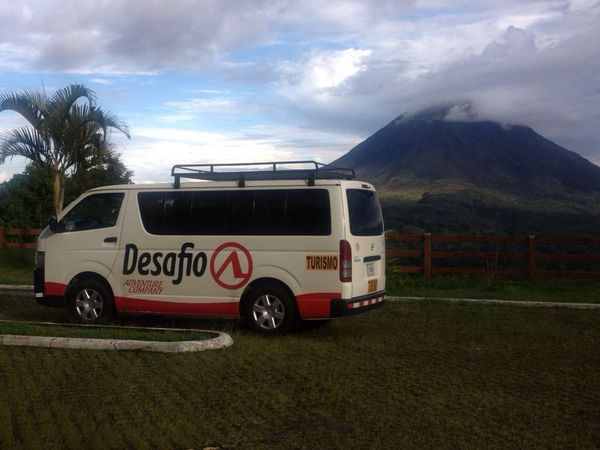 Shared Ride Shuttle from Arenal to Rio Perdido.