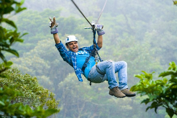 Sky Trek's ziplining tour is the perfect way to get up close the cloud forest