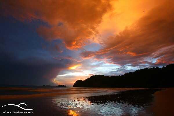 Amazing sunsets at the beach near Tamarindo Sugar Beach Hotel