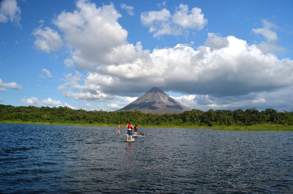 Beautiful views of the colossal Arenal Volcano