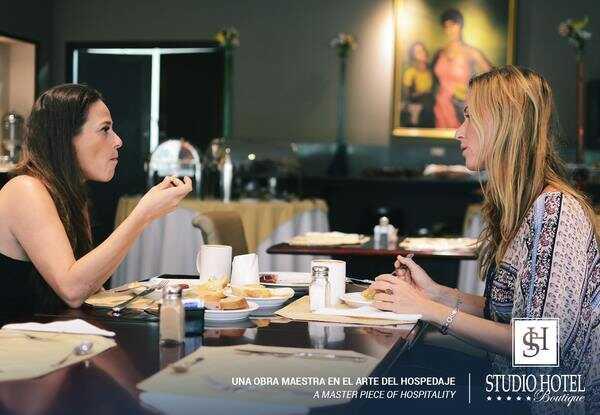 The Studio San Jose Hotel has a delicious and plentiful breakfast buffet.