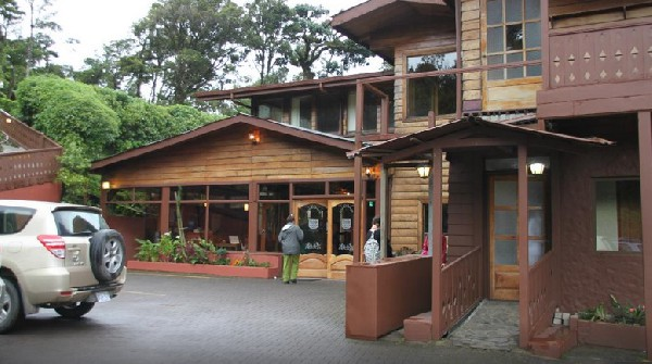 Swiss chalet style construction welcomes you at Trapp Family Lodge in Monteverde.