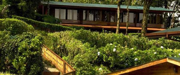 Lush vegitation surrounds the property at the Trapp Family Lodge in Monteverde.