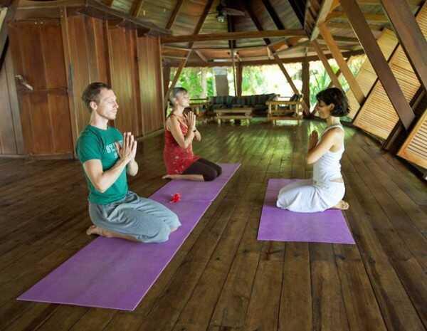 Enjoy yoga at Ylang Ylang Beach Resort in Montezuma.