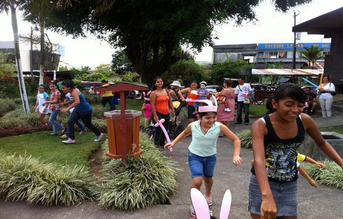 Children enjoy Easter Egg Hunt in Costa Rica