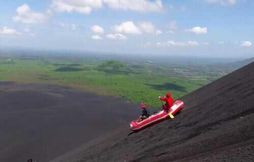 volcano boarding nicaragua with Desafio Adventure Company