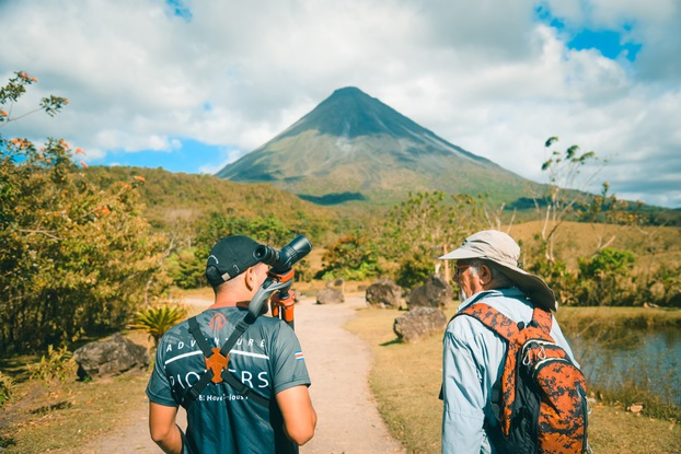 Beutiful view of the Arenal Volcano