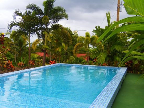 Refreshing pool at Heliconias Nature Lodge.