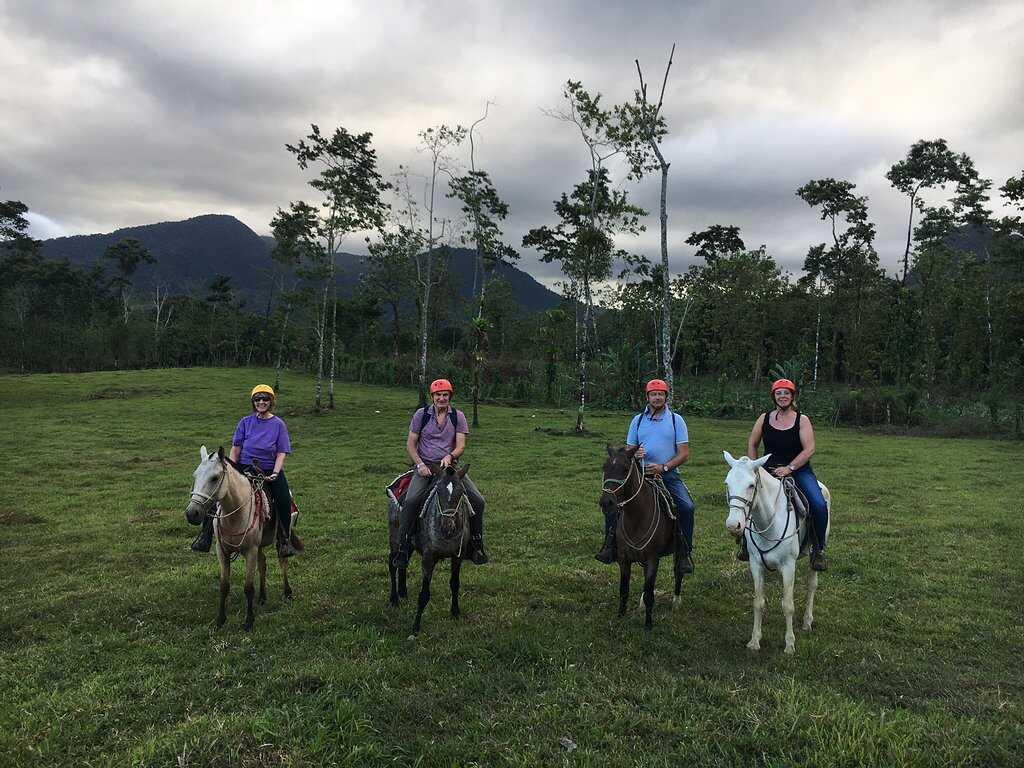 Take a nice horseback ride along the base of the Arenal Volcano