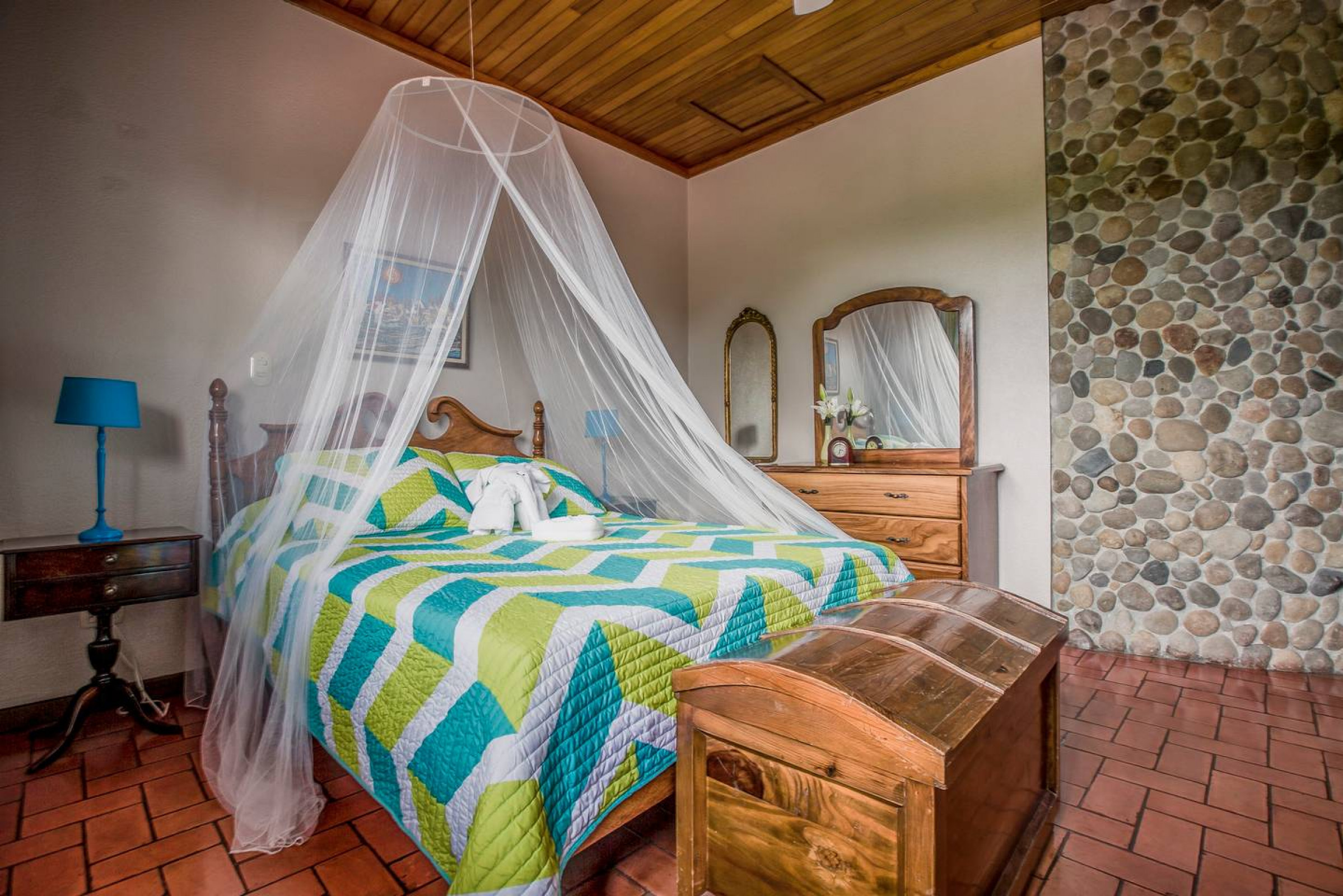 Nicely-styled rooms at this luxury AirBnB villa near La Fortuna.