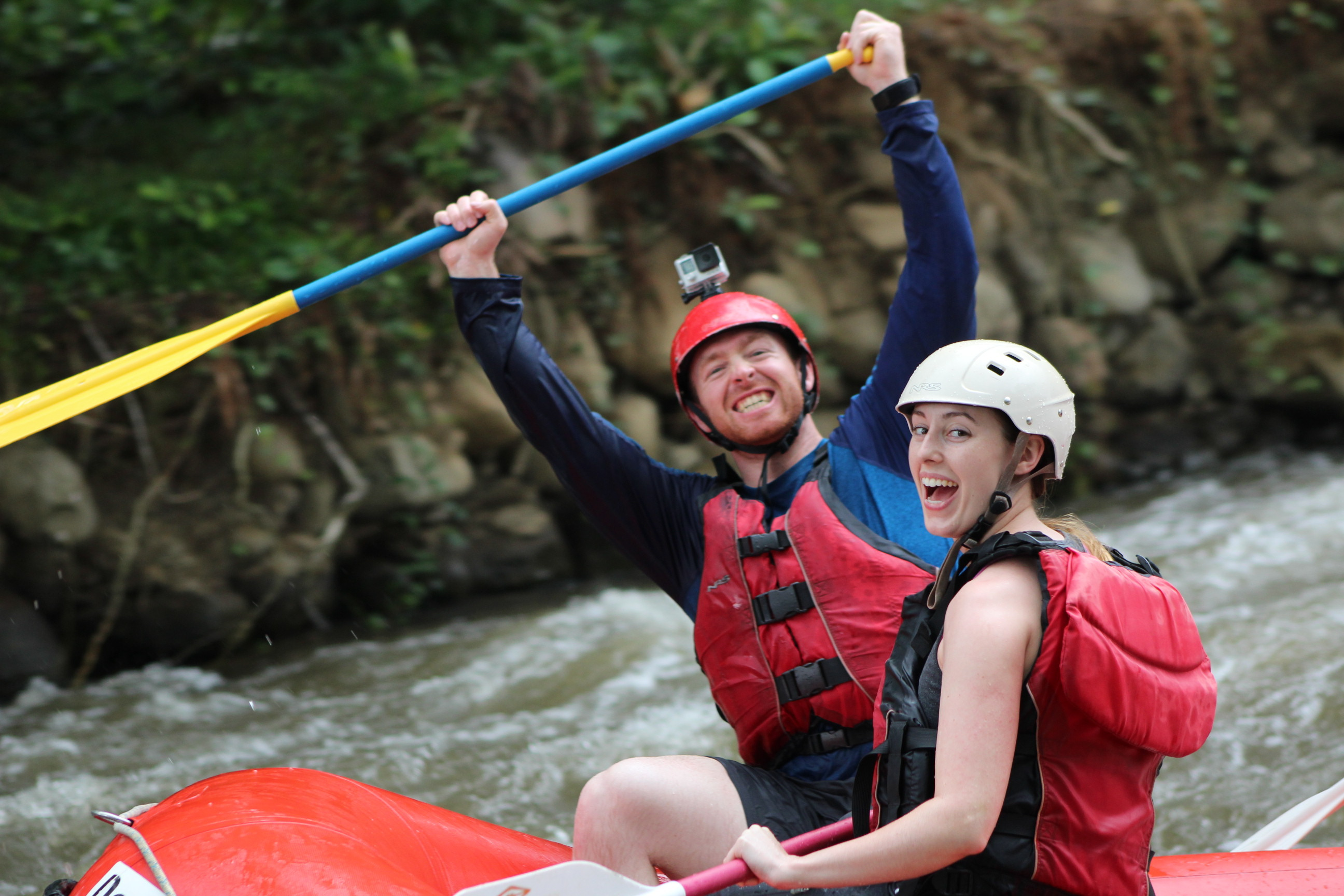 Turn your day of travel into an action packed adventure as you go Rafting on the Balsa River class 2-3 from San Jose to La Fortuna Arenal