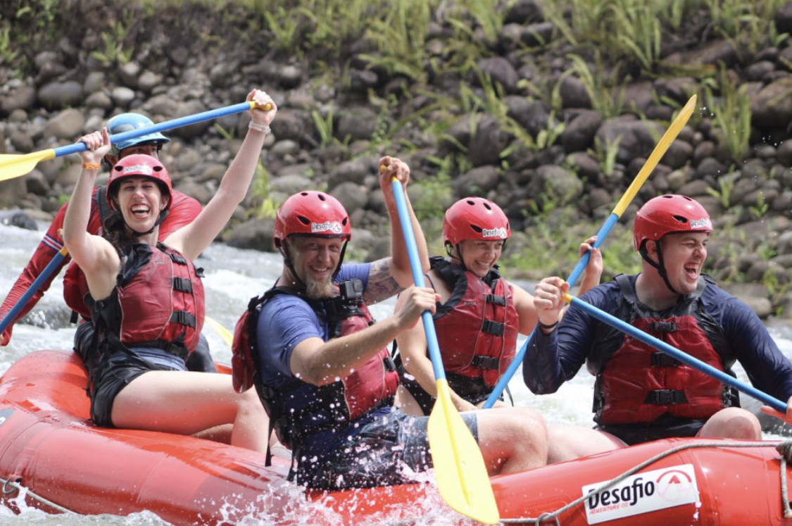 So much fun rafting on the Class 2 and 3 Sarapiqui