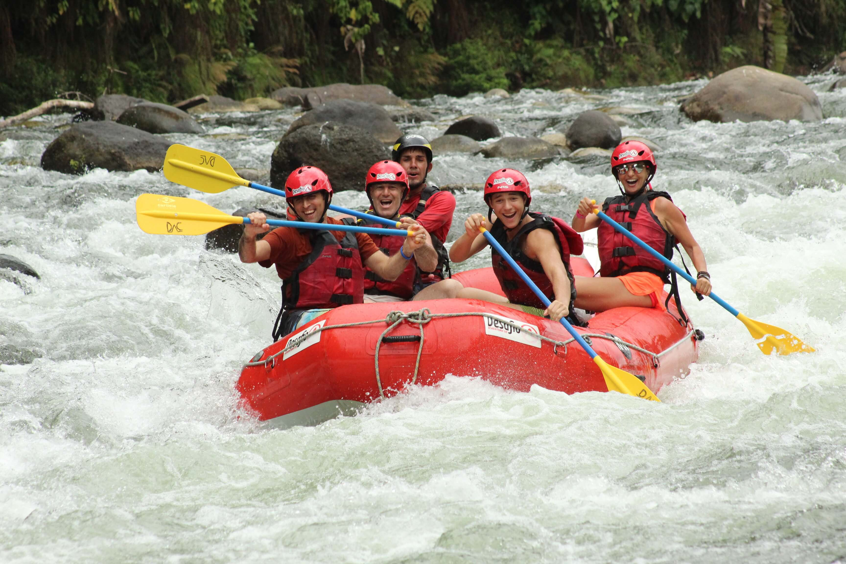 So much fun rafting on the Class 2 and 3