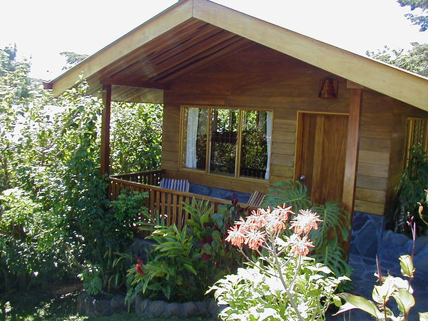 Cute cabins each with their own porches surrounded by nature in Monteverde.