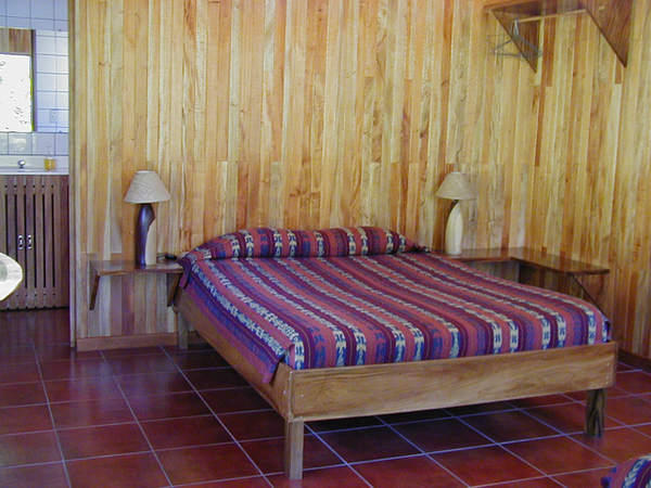 Clean, simple and spacious rooms at Arco Iris Lodge in Monteverde.