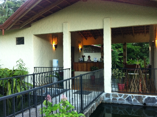 The relaxing spa at Casa Luna Hotel in La Fortuna near the Arenal Volcano and Waterfall.
