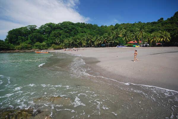 The beach in Montezuma, Costa Rica.