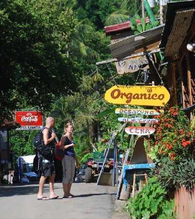 The beach town of Montezuma.