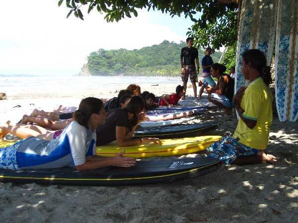 Surf Lessons in Montezuma, Costa Rica.