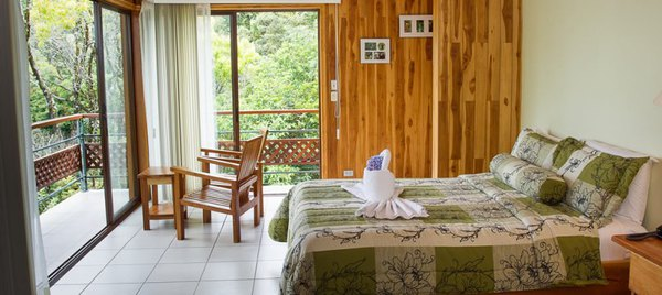 Comfortable beds and clean rooms at Ficus Suites are a perfect place to rest in between your cloud forest adventures.