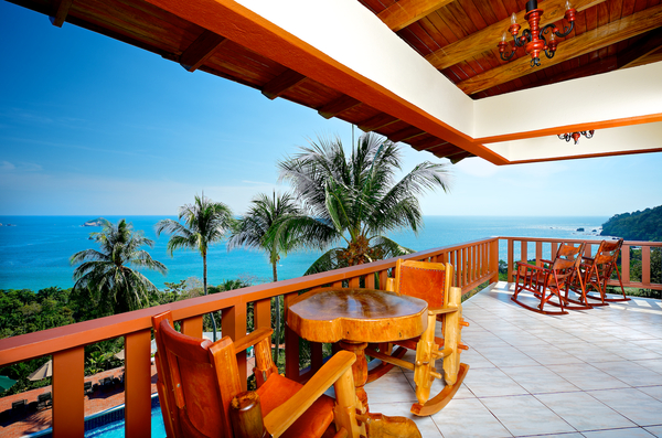 Breath taking views of the Pacific Ocean from your balcony at Costa Verde in Manuel Antonio. Desafio can assist you in planning a perfect romantic getaway to Costa Rica!