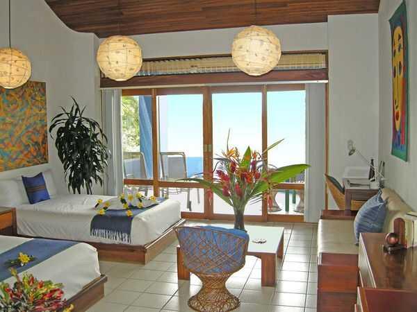 Comfortable and artsy rooms at Hotel Xandari.