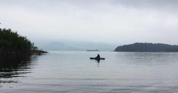 Kayak Fishing on Lake Arenal.Costa Rica