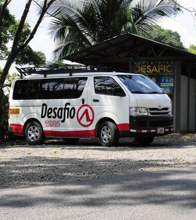 One of the Desafio vans equipped with optional air conditioning and free Wifi