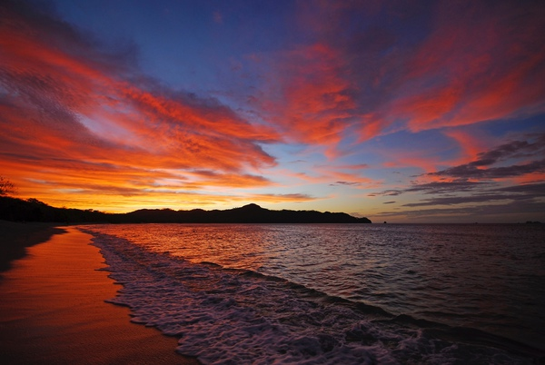 See the beautiful beach sunsets from the Mimos Hotel in Manuel Antonio, Costa Rica.