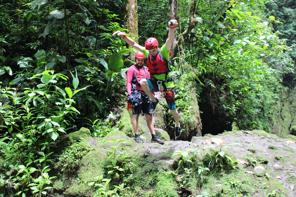 Extreme Costa Rica Tour Gravity Falls Drop into large, deep pools