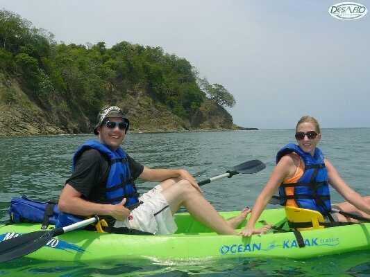 Enjoy kayaking to the beautiful white sand beach!