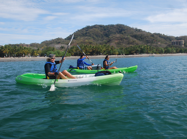 Ocean Kayking and Snorkeling off the coast of Manuel Antonio.