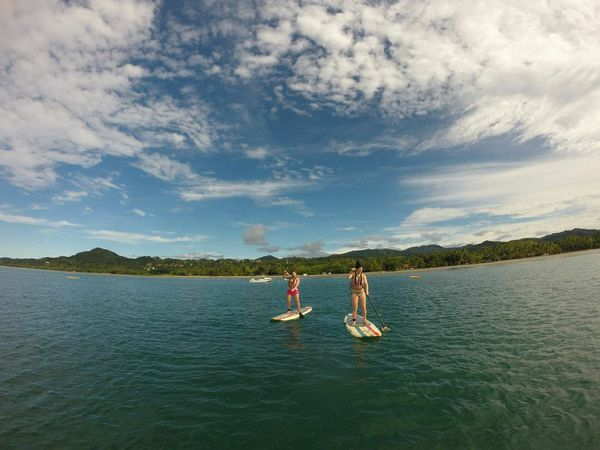Stand Up Paddle Boarding on the Pacific Ocean of Costa Rica.