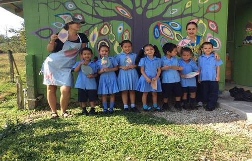 Community Art beautifies Rural Costa Rica School
